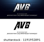alphabet silver metallic and... | Shutterstock .eps vector #1191952891