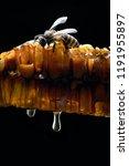 honey bees on beehive. | Shutterstock . vector #1191955897