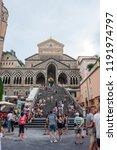 amalfi  italy   august 2  2018  ... | Shutterstock . vector #1191974797