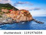manarola village at sunset.... | Shutterstock . vector #1191976054