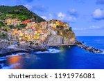manarola village at twilight.... | Shutterstock . vector #1191976081