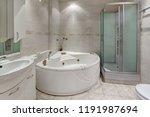 Interior Bathroom With Jacuzzi...