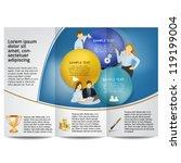 blue template for advertising... | Shutterstock .eps vector #119199004