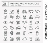 farming and agriculture web...   Shutterstock .eps vector #1191990964