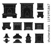 different kinds of fireplaces... | Shutterstock .eps vector #1191991867
