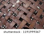 wickerwork pattern from rusty... | Shutterstock . vector #1191999367