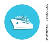 cruise liner logo icon in badge ...