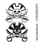 piracy   the concept of cyber... | Shutterstock . vector #1192006591