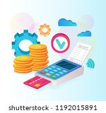 payment machine system and... | Shutterstock .eps vector #1192015891