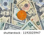 ripple xrp crypto currency coin ... | Shutterstock . vector #1192025947