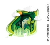 green earth of ecology and... | Shutterstock .eps vector #1192030084