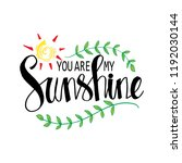 you are my sunshine hand... | Shutterstock .eps vector #1192030144