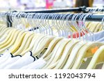 fashion clothes on clothing... | Shutterstock . vector #1192043794