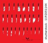 set of knife icon for butcher... | Shutterstock .eps vector #1192051144