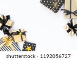top view of gift boxes in... | Shutterstock . vector #1192056727