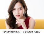 beautiful attractive elegance... | Shutterstock . vector #1192057387