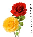 Red And Yellow Roses Bunch...