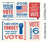 patriotic design elements and... | Shutterstock .eps vector #1192061794