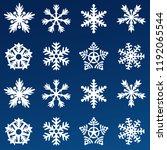snowflake vector icon... | Shutterstock .eps vector #1192065544