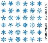 snowflake vector icon... | Shutterstock .eps vector #1192065571