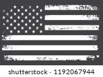 vintage american flag.grunge... | Shutterstock .eps vector #1192067944