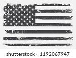 vintage american flag.grunge... | Shutterstock .eps vector #1192067947