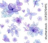 seamless pattern of watercolor... | Shutterstock . vector #1192070491