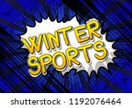 winter sports   vector... | Shutterstock .eps vector #1192076464