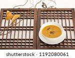 korean food  pumpkin porridge... | Shutterstock . vector #1192080061