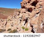 bolivia  salar de uyuni  rock...   Shutterstock . vector #1192082947