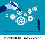 business system. leader build a ... | Shutterstock .eps vector #1192087147