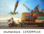 the logistics system services... | Shutterstock . vector #1192099114