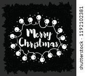merry christmas. typography.... | Shutterstock .eps vector #1192102381