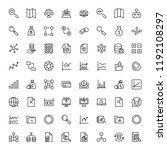 statistics icon set. collection ... | Shutterstock .eps vector #1192108297