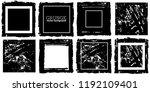 rectangular vector frame.... | Shutterstock .eps vector #1192109401