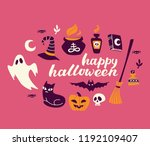 illustation of halloween icon... | Shutterstock .eps vector #1192109407