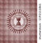 hourglass icon inside red badge ... | Shutterstock .eps vector #1192111861