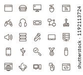 game icon set. collection of... | Shutterstock .eps vector #1192113724
