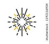 firework explosion icon. vector ... | Shutterstock .eps vector #1192116934