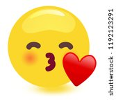kissing face with the cheerful... | Shutterstock .eps vector #1192123291