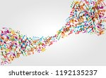 music background with colorful...   Shutterstock .eps vector #1192135237
