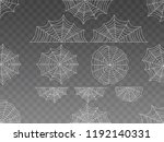 collection of cobweb  isolated... | Shutterstock .eps vector #1192140331