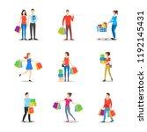 cartoon characters different... | Shutterstock .eps vector #1192145431