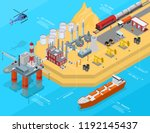oil gas industry concept 3d... | Shutterstock .eps vector #1192145437