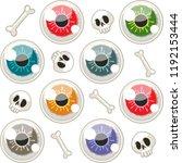 halloween seamless pattern with ... | Shutterstock .eps vector #1192153444
