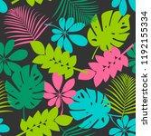 tropical leaves seamless... | Shutterstock .eps vector #1192155334