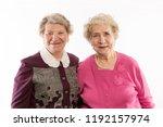 older women friends embrace and ...   Shutterstock . vector #1192157974