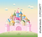cartoon fairy tale castle | Shutterstock .eps vector #119216077