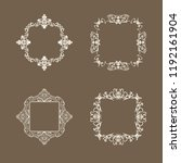 rosette wicker border... | Shutterstock .eps vector #1192161904