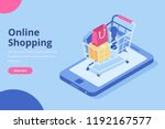 Online Shopping Isometric...